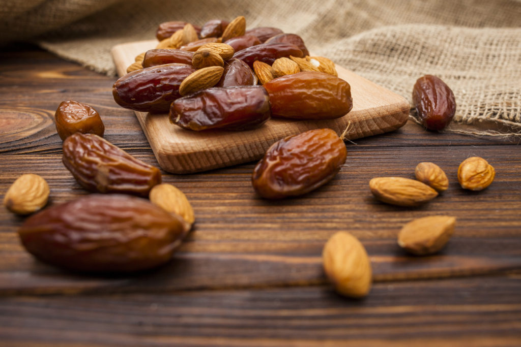 Dates on table for fasting diet